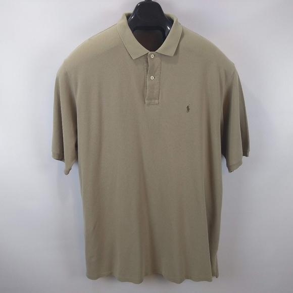 41a2c608 Polo Ralph Lauren Polo Shirt Tan w/ Brown Horse